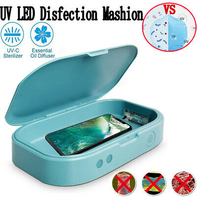 UV Cell Phone Sterilizer Box aromatherapy Sanitizer Disinfection Box Phone Soap