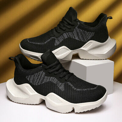 2 Pairs Mens Black Breathable Walking Sport Shoes Athletic Sneakers Outdoor NEW