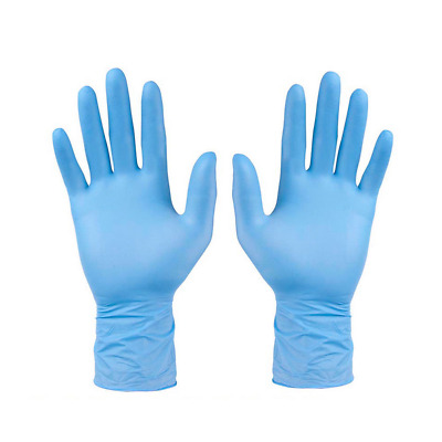100Pcs Comfortable Rubber Disposable Mechanic Nitrile Gloves Blue Medical Exam