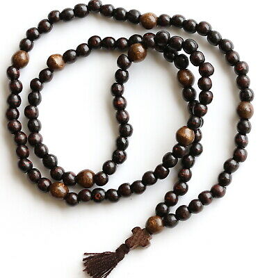 Orthodox Russian Greek Wood Chotki 100 Monastery Handmade Rosary Prayer Beads