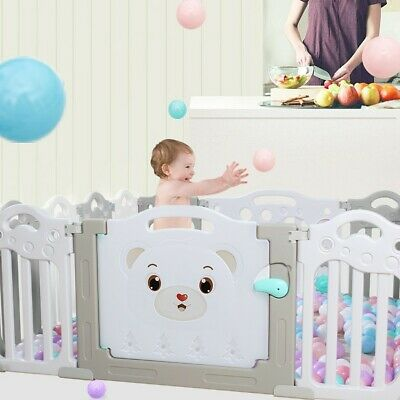 14 Panel Baby Playpen Kids Safety Fence Play Center Play Yard Indoor Outdoor Pen