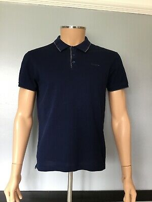 Z Zegna, Mens Polo Top Tshirt, Short Sleeve, Size M, Navy, In Vgc