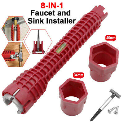8In1 Faucet and Sink Installer Multifunctional Wrench Tool Plumbing Pipe Spanner