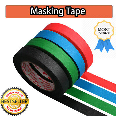 NEW MASKING TAPE INDOOR OUTDOOR DIY PAINTING DECORATING EASY TEAR 5-50MM x 50M