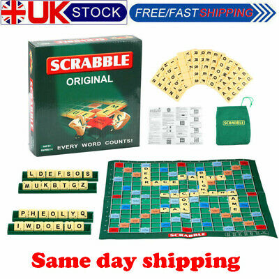 Family Original Scrabble Game Kids Adult Educational Learning Party Game Board