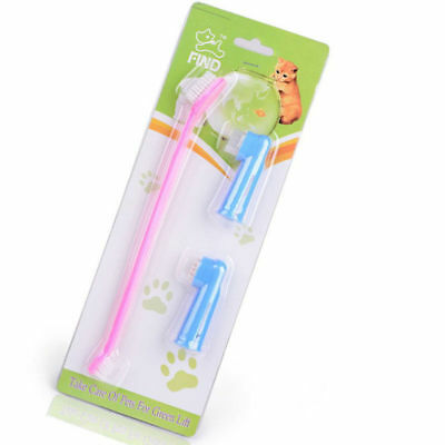 Brush Latex Finger Toothbrush Pet Cat Dog Teeth Care Cleaning Gromming Supplies
