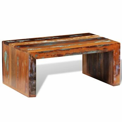 Antique-style Reclaimed Solid Wood Handmade Coffee Side Table Retro Tea Table