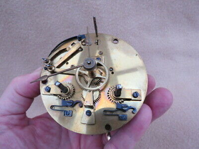 Antique French Striking Clock Movement For Spares Or Repair