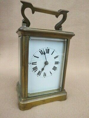 Antique Brass French 8 Day Carriage Clock For Tlc