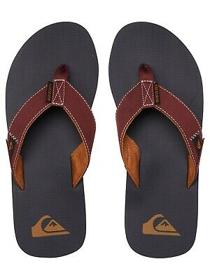 Quiksilver Mens Flip Flops.molokai Abyss Canvas Arch Support Thongs Sandal S20 0