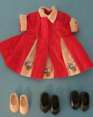 Vintage Deluxe Reading Doll PENNY BRITE Dress & 3 Pairs of Shoes