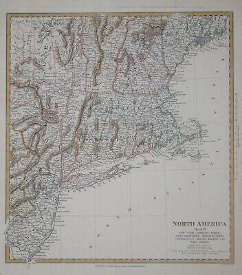 North America Sheet Vi - New York, Vermont... For The Sduk, Published 1832.