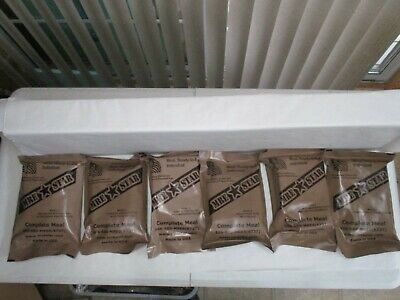 Lot of 6 MRE Star Ready To Eat Complete Meal Kits