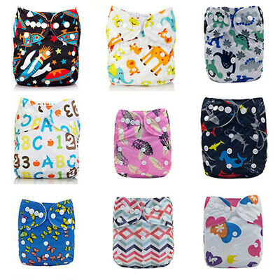 Washable Baby Pocket Nappy ClothDiaper  Reusable BAMBOO CHARCOAL Cover Wrap