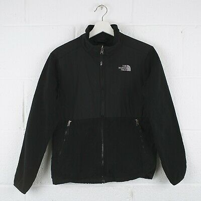 Vintage THE NORTH FACE Black Zip Up Fleece Jacket Size Youth Boys Large /R30099