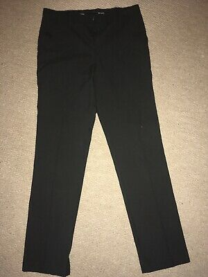 Boys Black Slim Fit School Trousers Age 12-13 Years Bnwot From M&S