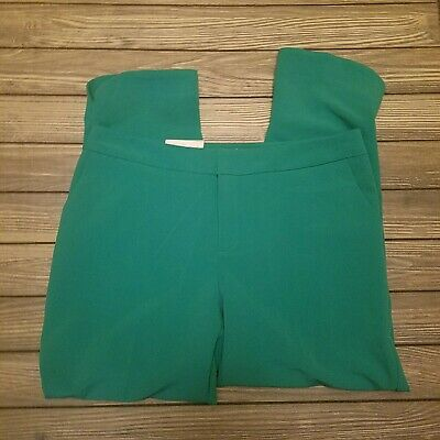 Women's Mid-Rise Slim Ankle Pants - A New Day™ Green 12 Brand New Tags