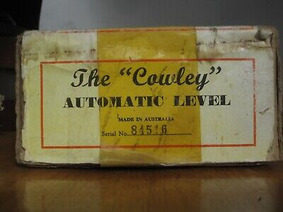 Vintage COWLEY AUTOMATIC LEVEL with tripod, box & instructions (SORRY-no staff)