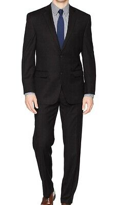 Marc new York Black Mens Suit Size 38R Stretch Two Button Finished Hem $375 #176