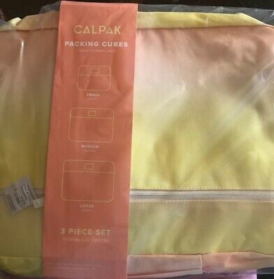 NEW Calpak Set of 3 Packing Cubes in Sorbet New Sealed Travel Suitcase Storage