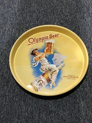 Olympia Beer [Capital Brewing Co. Washington. USA] 13'' METAL SERVING TRAY Promo