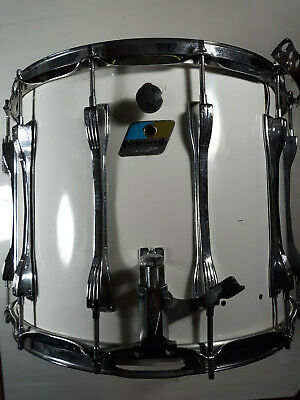 "Ludwig 12""x14"" Challenger ST Plus Marching Snare Drum 12x14 Lug White Cortex"