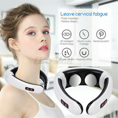 Electric Pulse Cervical Neck Pulse Massager Shoulder Muscle Relax Relieve Pain