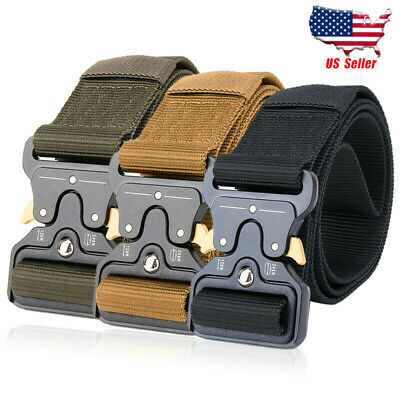 Men's Tactical Belt Military Training Heavy Duty Nylon Quick Release Army Rigger