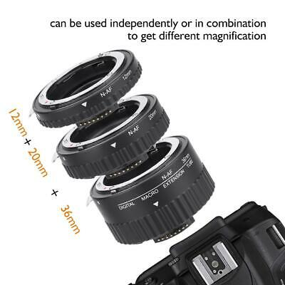 Meike Auto Focus Macro Extension Tube Ring 12mm 20mm 36mm For Nikon F DSLR Cam