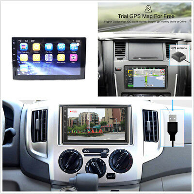 Universal 2DIN Android 7.1 Touch Auto GPS Radio Stereo Player FM//RDS//SWC//BT//Wifi
