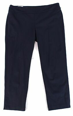 Charter Club Women's Pants Navy Blue Size 20W Plus Slim Fit Stretch $69 #458