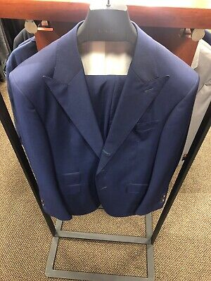 Blue Washington Suit Supply 2-piece Suit. A Three Role Two Jacket. Wool Mohair