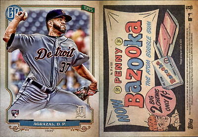 2020 Topps Gypsy Queen DARIO AGRAZAL Bazooka Back Parallel Tigers RC #37