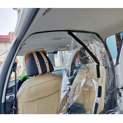 Vehicle Cockpit Partition Screen Film Shield Cover for Isolate Driver Passenger