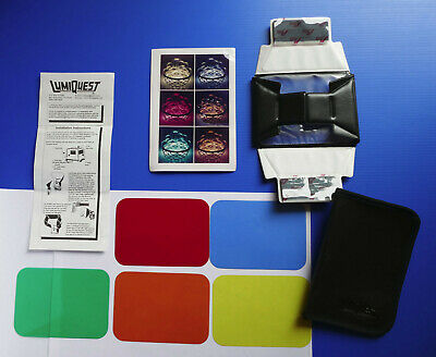 LumiQuest FX Holder + Colour Filter Kit for Flash 5 coloured Gels New Unused