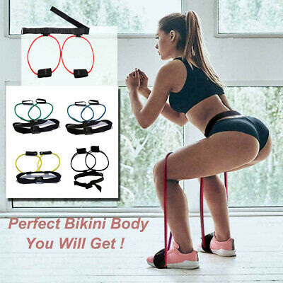 Uk Resistance Bands Waist leg Bouncing Training Pedal Device Belt Pull Rope 10lb