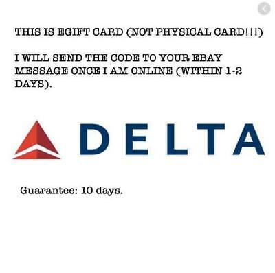 $200 Delta Airline Gift Card (READ DESCRIPTION IN THE PHOTO PLS)
