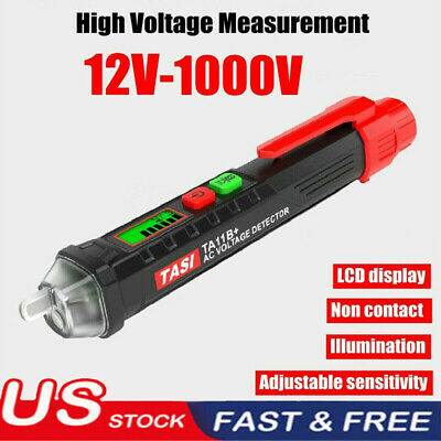 AC/DC Non-Contact LCD Electric Voltage 12-1000V Test Pen Detector Tester Pencil