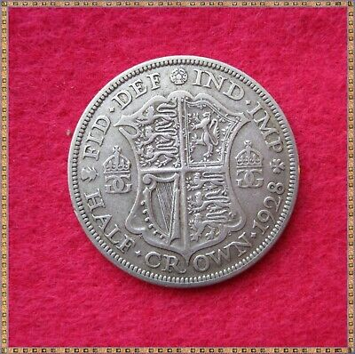 1928 George V Silver Half Crown (2/6) Coin.