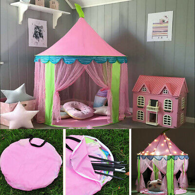 Baby Girls Pop Up Play Tent Princess Playhouse Indoor Outdoor Game Castle Teepee