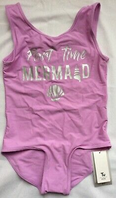 New Tu Girls Lilac Swimsuit Swimming Costume Part Time Mermaid 9 Yrs