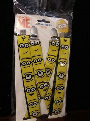 New Buckle Down Kids/' Elastic Clip End Despicable Me Minion Suspenders