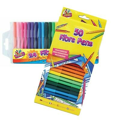 Felt Tips Drawing Markers Colouring Art Crafts School Creative Highlight Kids