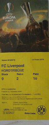 Liverpool FC VIP TICKET UEFA EL 2015//16 Villarreal CF