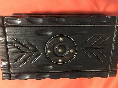 Lobeco Wood Treasure Chest Handcarved Made In Spain (12x5x7)