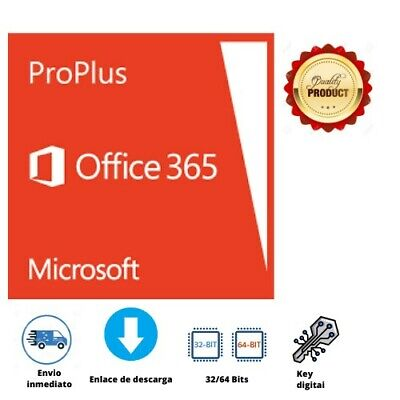 Office 365/2019 ProPlus 32/64 bit | 5 Devices | Multilanguage | Instant delivery