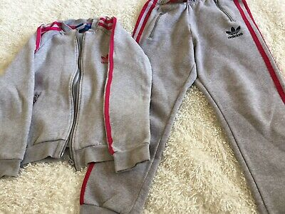 Grey Adidas Tracksuit Age 9/10 Yrs Boys Girls Unisex