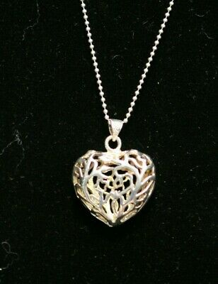 """Details about  /Fine pre owned solid oval disc sterling silver 32 gram 16/"""" chain sleek necklace"""