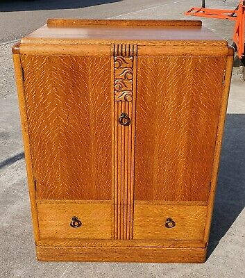 Vintage Art Deco Tallboy Repolished   Delivery Available