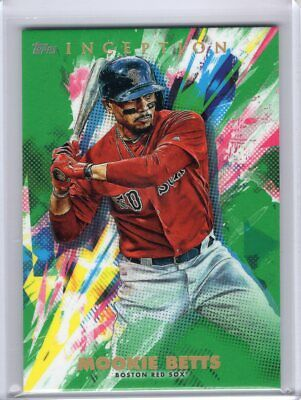 2020 Topps INCEPTION Mookie Betts Green Parallel #97 Red Sox Card